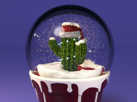 Desert Christmas Snow Globe