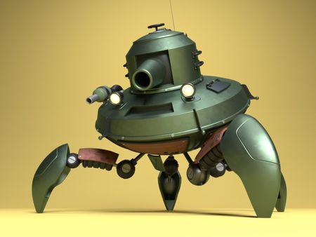 Cartoon Crab Crawler Tank