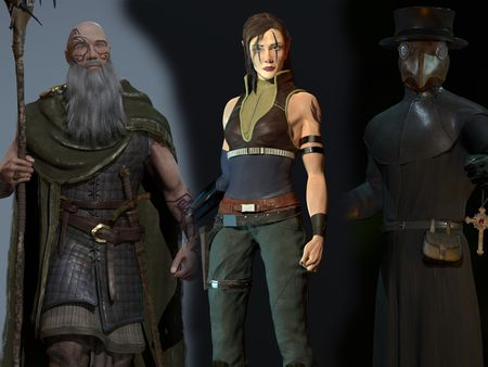 Game ready characters