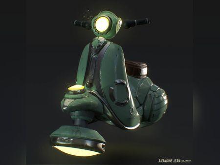 Futuristic Scooter