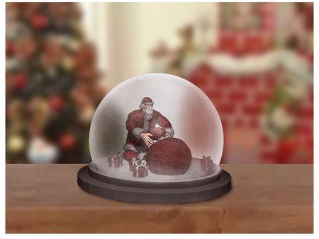 Santa' snow globe