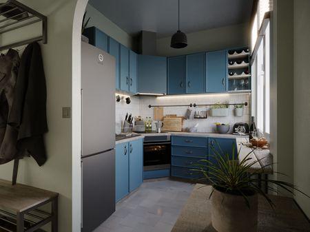 Budapest Suburban Apartment Vol4 - Kitchen - Archviz