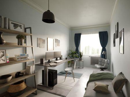 Budapest Suburban Apartment Vol2 - Office Room - Archviz