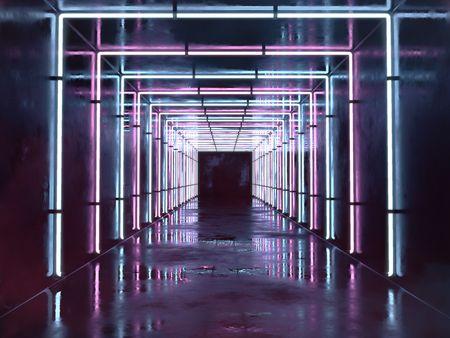 Neon hallway