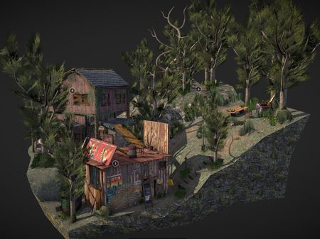 Forest Loner - Diorama Scene