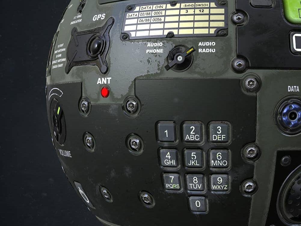 Old Military Radio - 100% Substance Designer