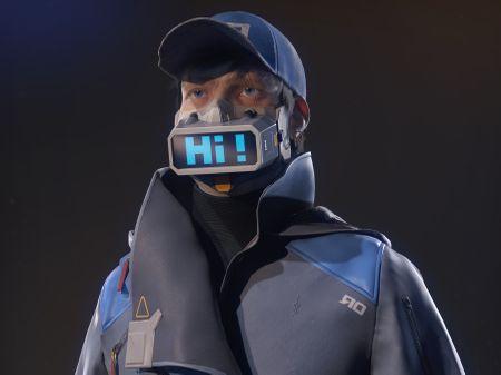 Cyberpunk protestor