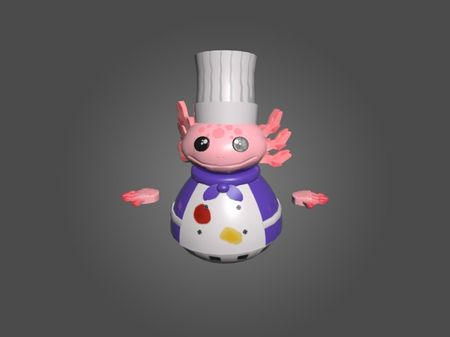 3d axolotl overcooked model