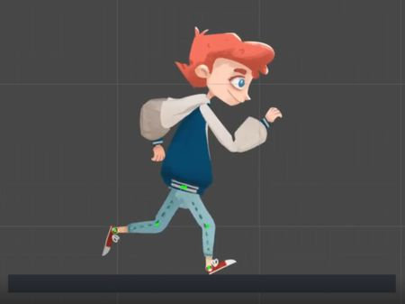 Animation 2d character running