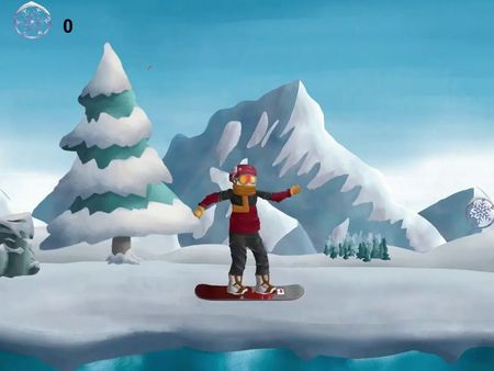 Animation 2d snowboard character