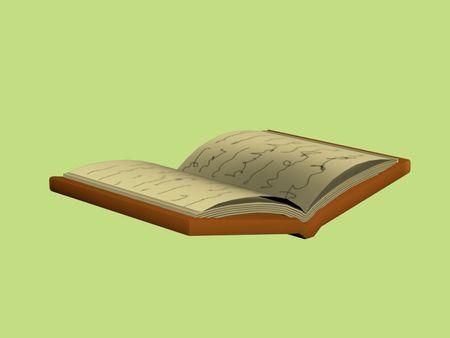 Cartoon 3D book