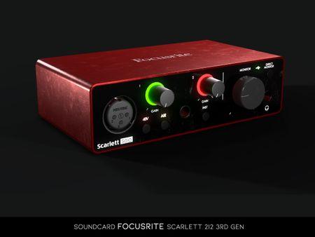 SoundCard Focusrite Scarlett 2i2 3rd Gen