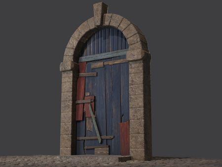Low-Poly PBR Ancient Door