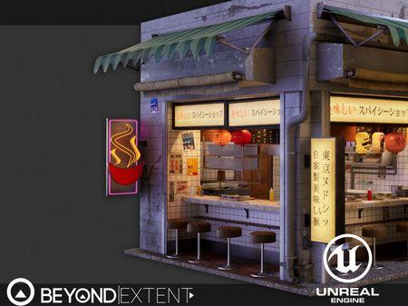 Japanese Noodle Shop - Beyond Extent Challenge