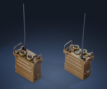 Stylized Military Radio Prop