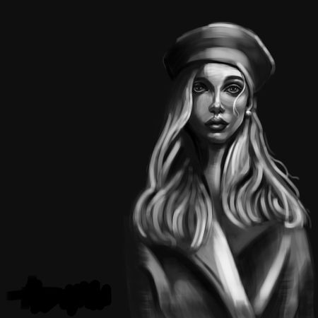 girl in beret
