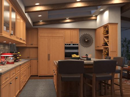 Kitchen  day and night