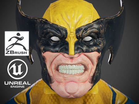 Wolverine - Game Ready Character Mesh