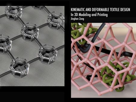 Deformable and Kinematic Textile Design in 3D Modeling and Printing