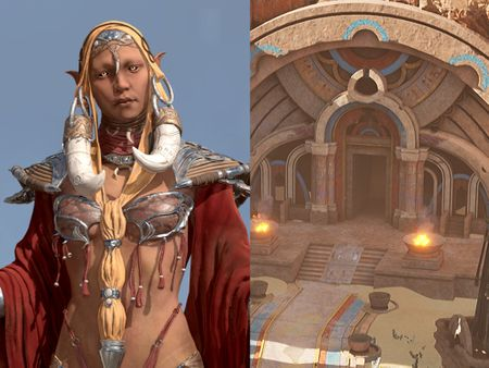 Shaman (Game Character) and Desert Dungeon (Game Environment)