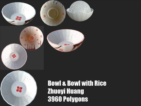 Bowl & Bowl with Rice