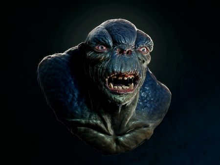 Cave Troll - Concept bust