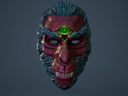 Stylized Monkey King Mask