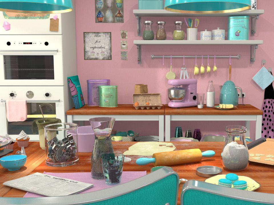 Pastel Baker Kitchen