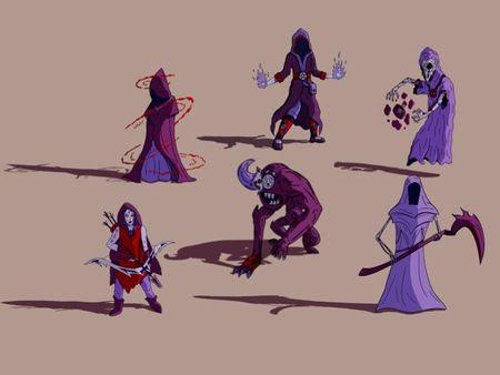 Creación de Personajes y  Animación de Selección de Personaje
