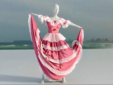Typical Colombian dress made In Houdini