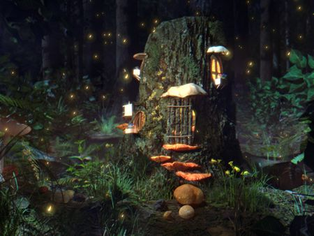 fantasy fairy tree trunk