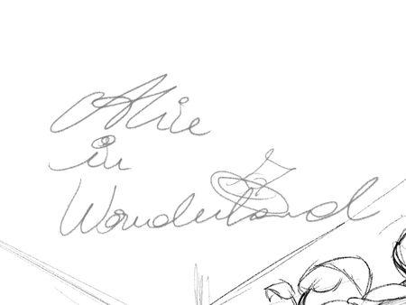 Alice in Wonderland inspired book