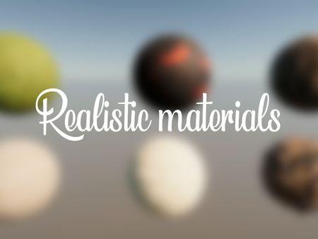 Realistic materials