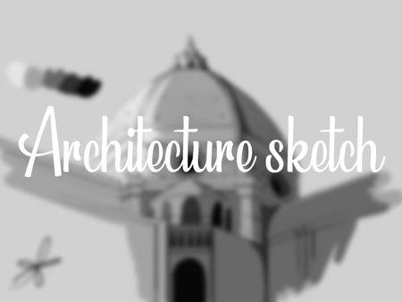 Architecture sketch - Santa Maria del Fiore