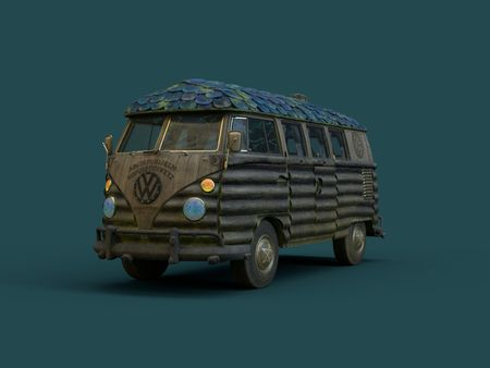 Substance Texturing Challenge - Kombi - Witch's Hut