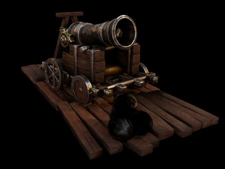 Medieval Canon Prop