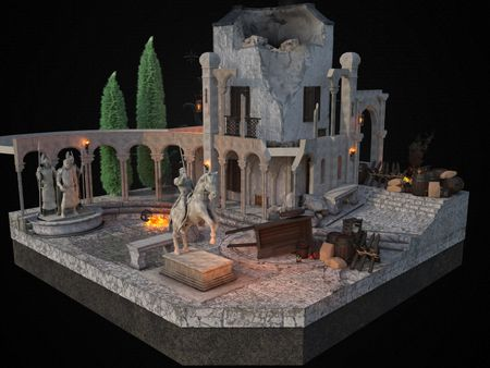 Minas Tirith Diorama