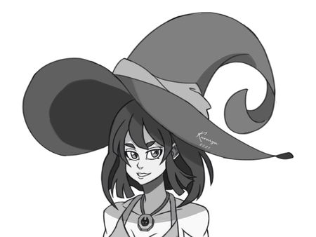 Halloween Drawing: Witch Value Practice