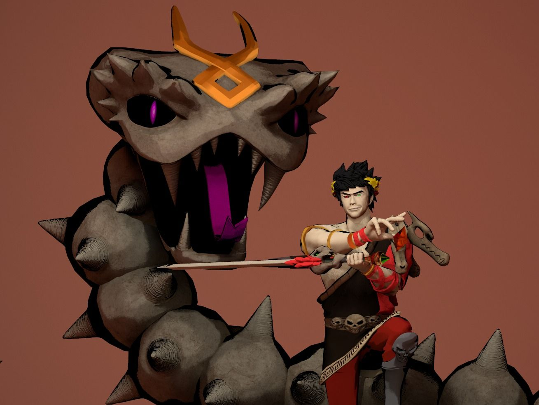 Zagreus VS The Lernaean Bone Hydra