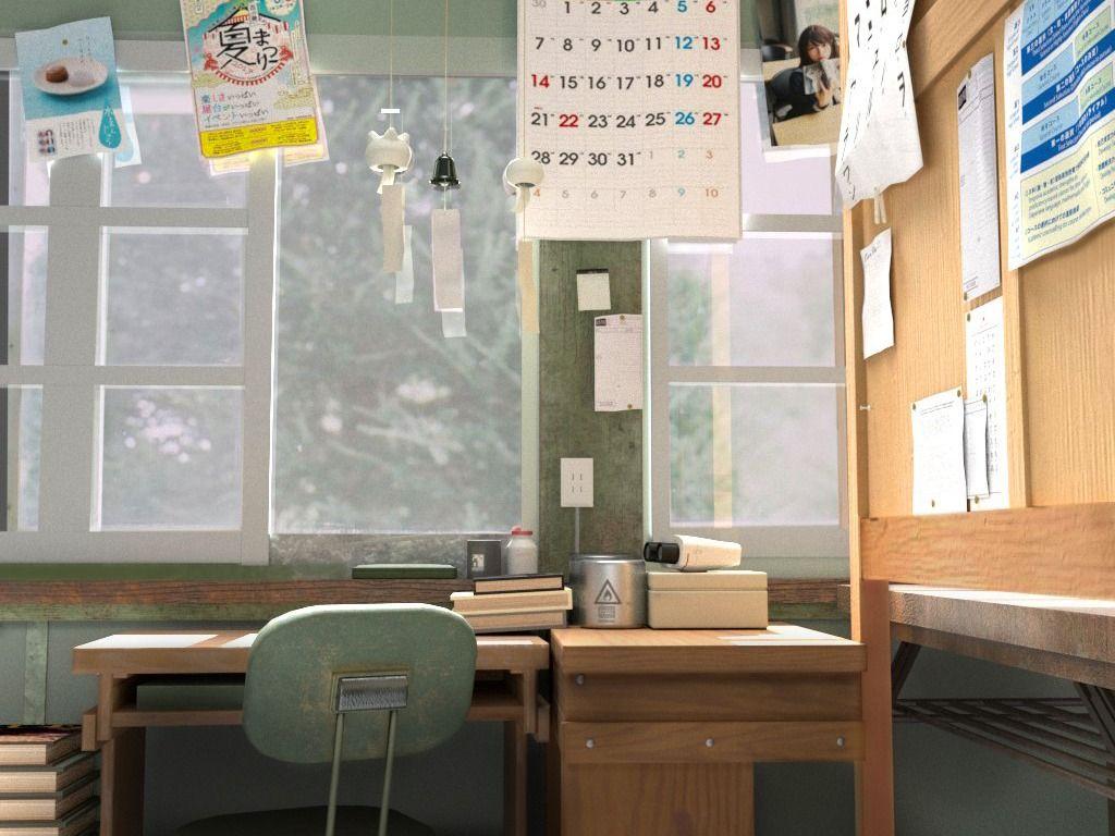 Japanese School Interior Environment Modelling