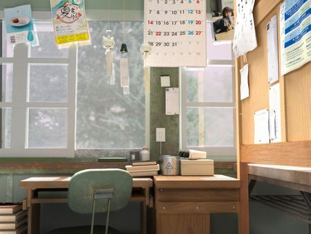 Japanese School Interior Environment Modelling