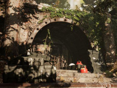 Abandoned forest bunker.