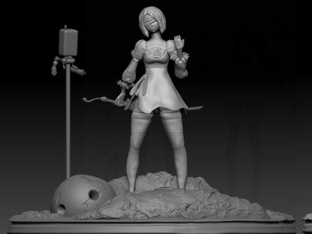 2B Maquette Sculpt (Turntable)