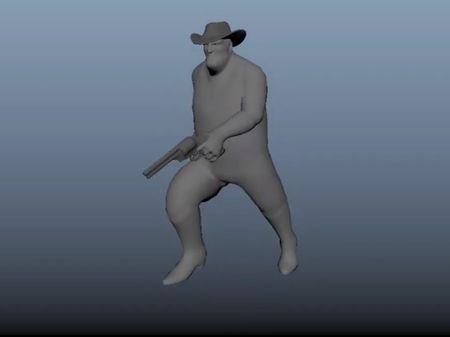 Big Cowboy animation collection