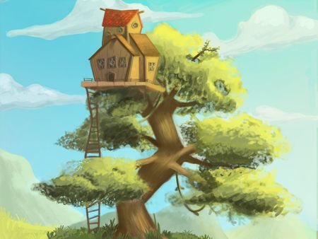 2D Painting - Tree house