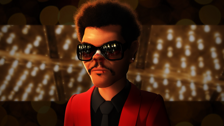 The Weeknd caricature