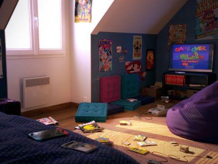 3D Gamer Bedroom