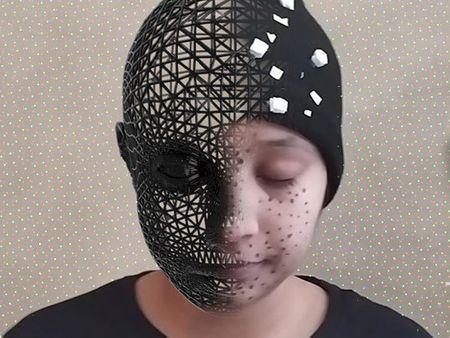 Wireframe Head