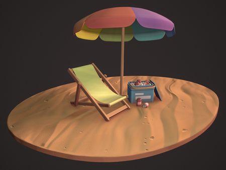 Stylized Beach Set