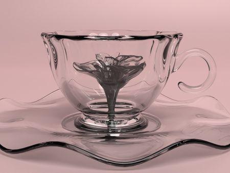 Teacup with a flower inside